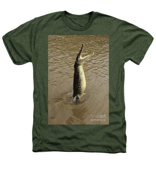 Salt Water Crocodile Heathers T-Shirt by Bob Christopher