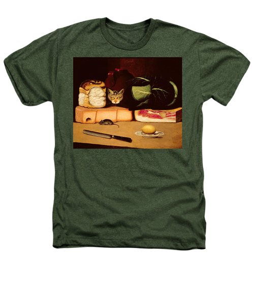 Still Life With Cat And Mouse Heathers T-Shirt by Anonymous