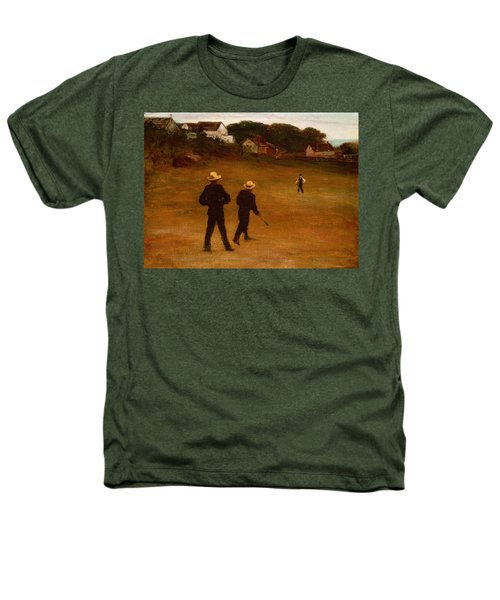 The Ball Players Heathers T-Shirt by William Morris Hunt