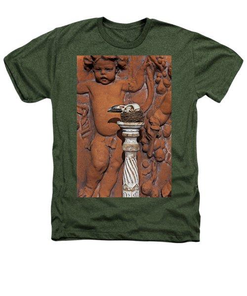 Turkey Vulture Skull Heathers T-Shirt by Garry Gay