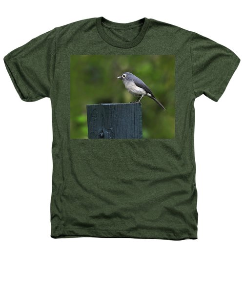White-eyed Slaty Flycatcher Heathers T-Shirt by Tony Beck