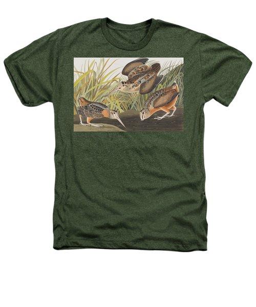 American Woodcock Heathers T-Shirt by John James Audubon