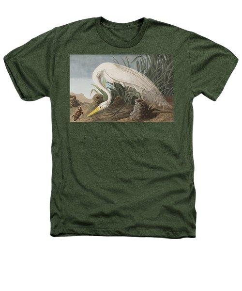 Great Egret Heathers T-Shirt by John James Audubon