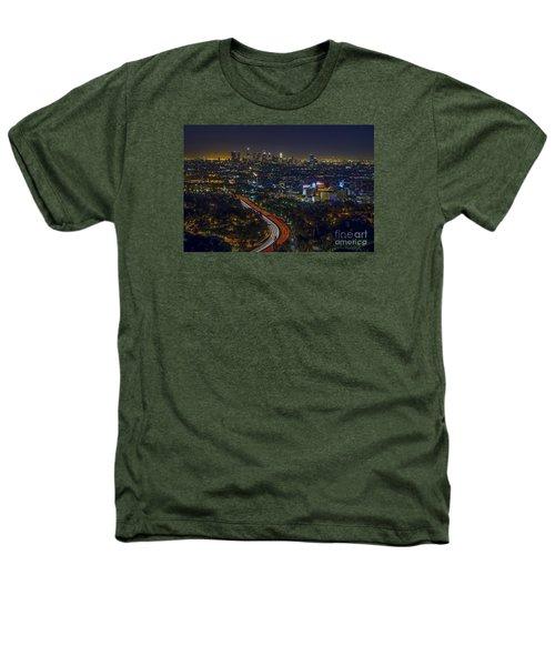 Los Angeles Sunrise Heathers T-Shirt by Art K