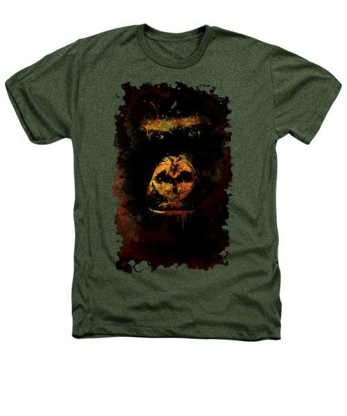 Mighty Gorilla Heathers T-Shirt by Jaroslaw Blaminsky