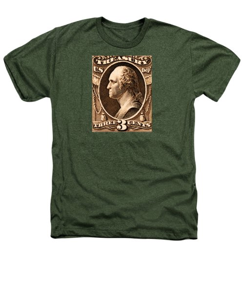 1875 George Washington Treasury Department Stamp Heathers T-Shirt by Historic Image
