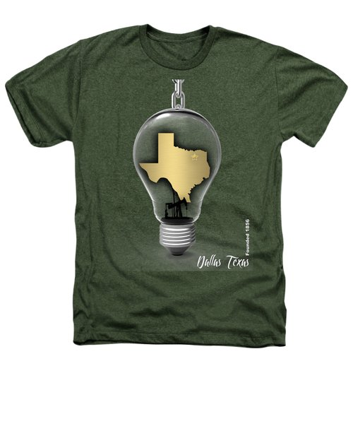 Dallas Texas Map Collection Heathers T-Shirt by Marvin Blaine