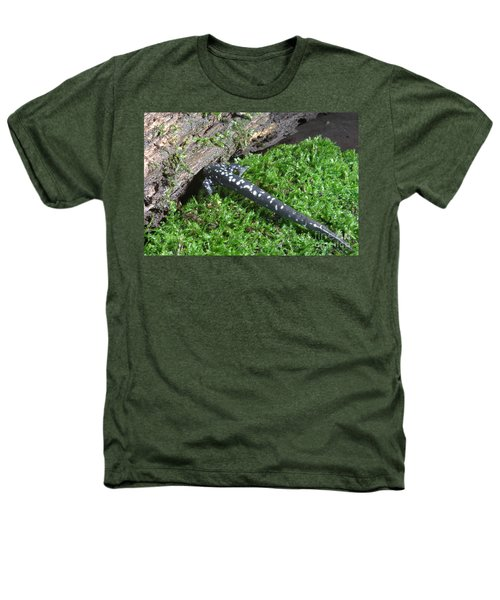 Slimy Salamander Heathers T-Shirt by Ted Kinsman