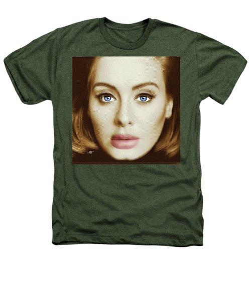 Adele Painting Circle Pattern 2 Heathers T-Shirt by Tony Rubino