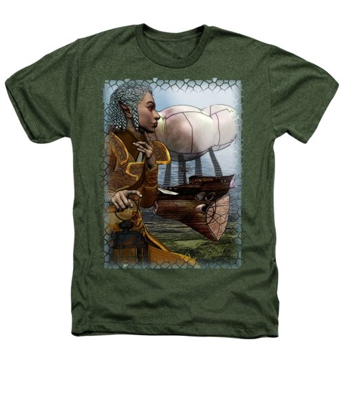Airship Heathers T-Shirt by Sharon and Renee Lozen