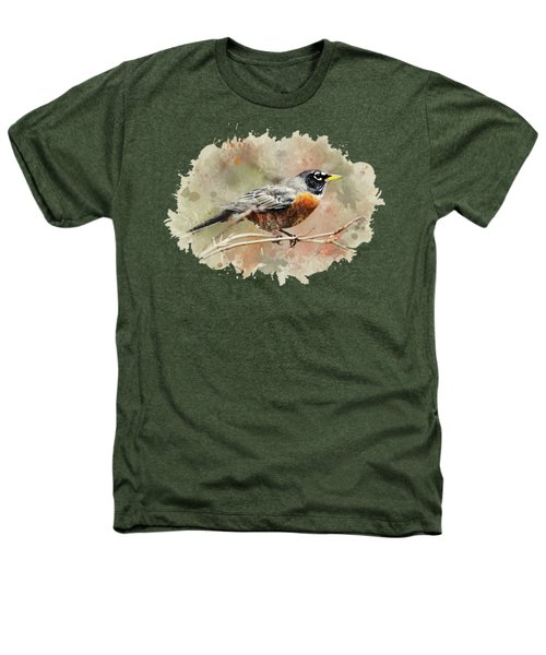 American Robin - Watercolor Art Heathers T-Shirt by Christina Rollo