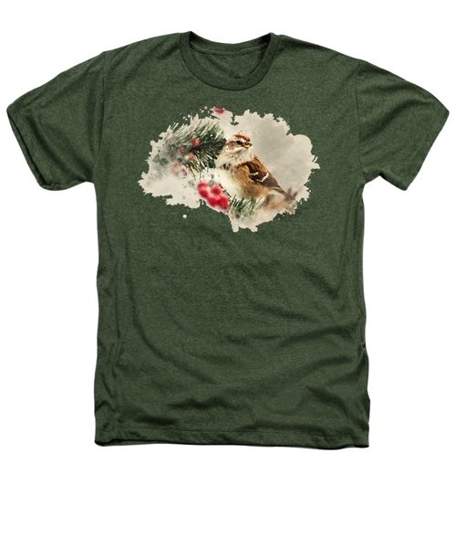 American Tree Sparrow Watercolor Art Heathers T-Shirt by Christina Rollo