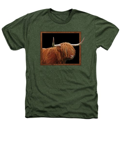 Bad Hair Day - Highland Cow Square Heathers T-Shirt by Gill Billington