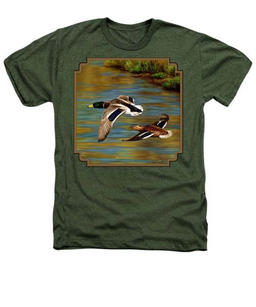 Golden Pond Heathers T-Shirt by Crista Forest