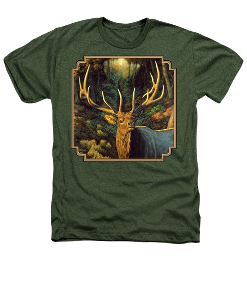 Elk Painting - Autumn Majesty Heathers T-Shirt by Crista Forest