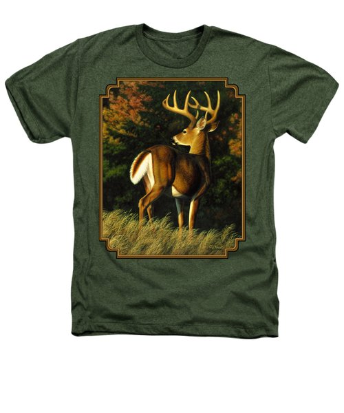 Whitetail Buck - Indecision Heathers T-Shirt by Crista Forest