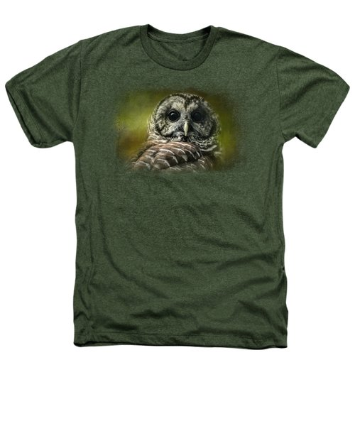Barred Owl In The Grove Heathers T-Shirt by Jai Johnson