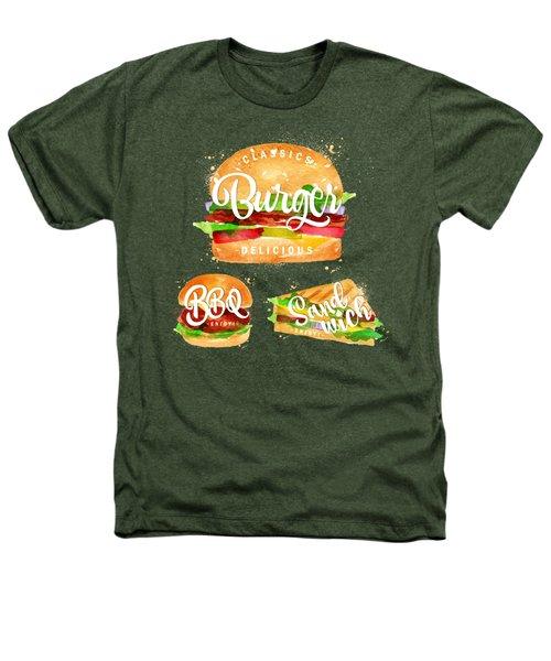 Black Burger Heathers T-Shirt by Aloke Design