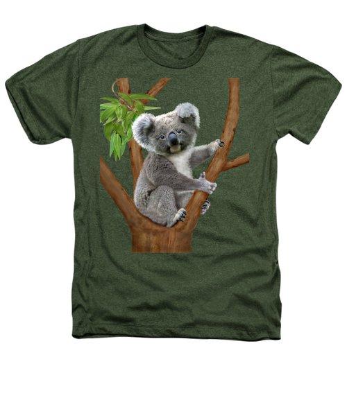 Blue-eyed Baby Koala Heathers T-Shirt by Glenn Holbrook