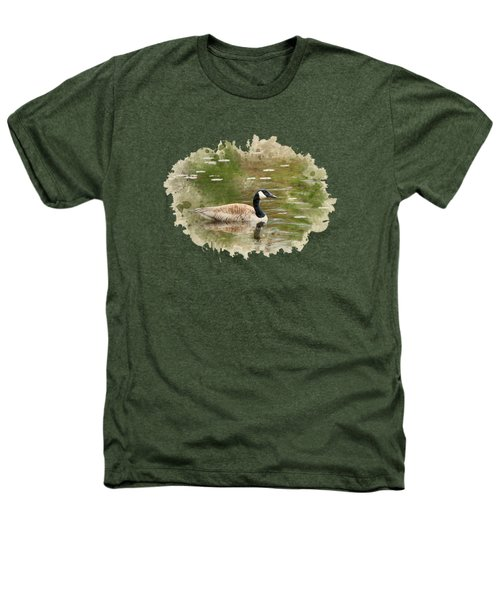 Canada Goose Watercolor Art Heathers T-Shirt by Christina Rollo