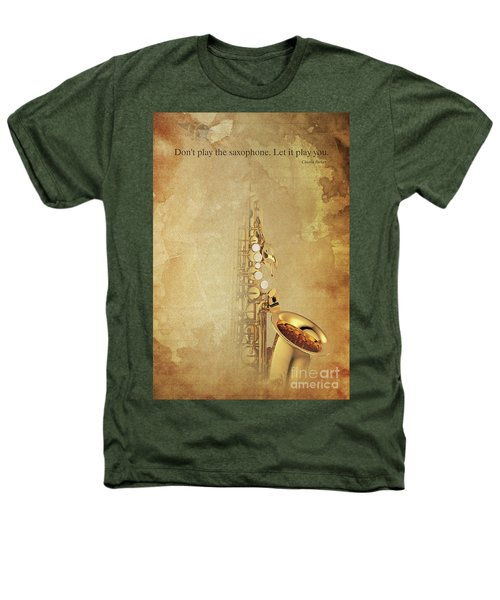 Charlie Parker Saxophone Brown Vintage Poster And Quote, Gift For Musicians Heathers T-Shirt by Pablo Franchi
