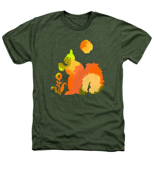 Colorful Squirrel 2 Heathers T-Shirt by Holly McGee