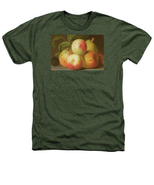 Detail Of Apples On A Shelf Heathers T-Shirt by Jakob Bogdany