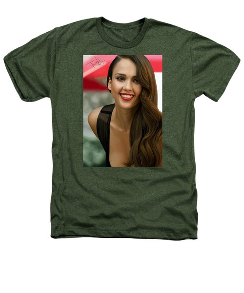 Digital Painting Of Jessica Alba Heathers T-Shirt by Frohlich Regian