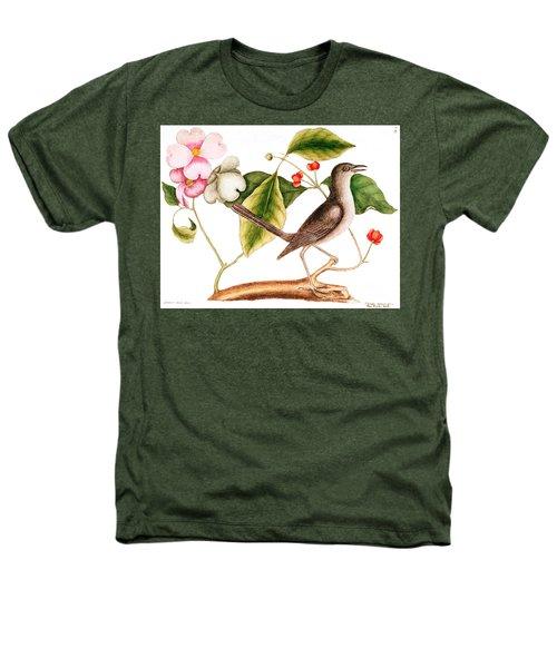 Dogwood  Cornus Florida, And Mocking Bird  Heathers T-Shirt by Mark Catesby