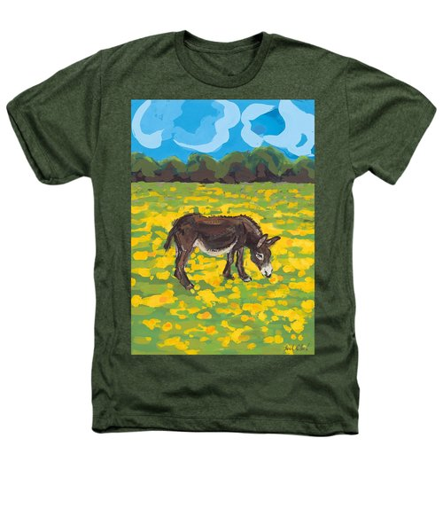 Donkey And Buttercup Field Heathers T-Shirt by Sarah Gillard