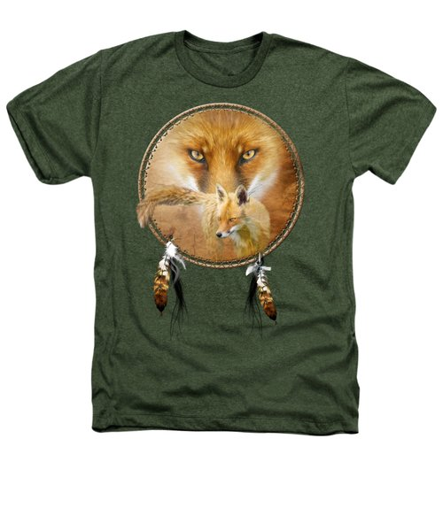Dream Catcher- Spirit Of The Red Fox Heathers T-Shirt by Carol Cavalaris