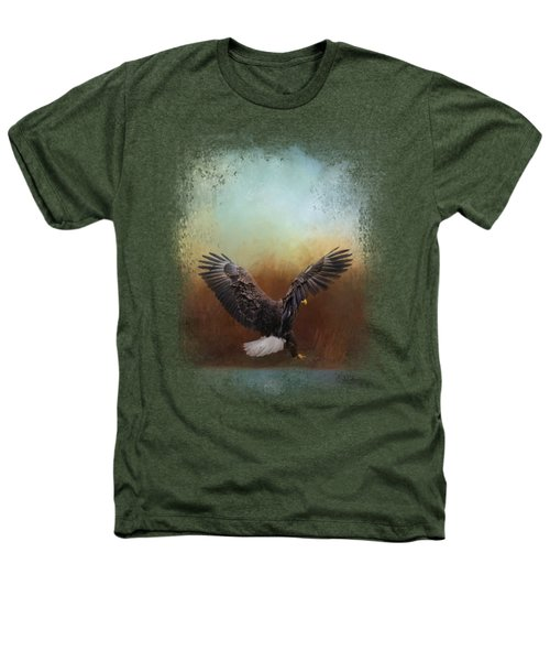 Eagle Hunting In The Marsh Heathers T-Shirt by Jai Johnson