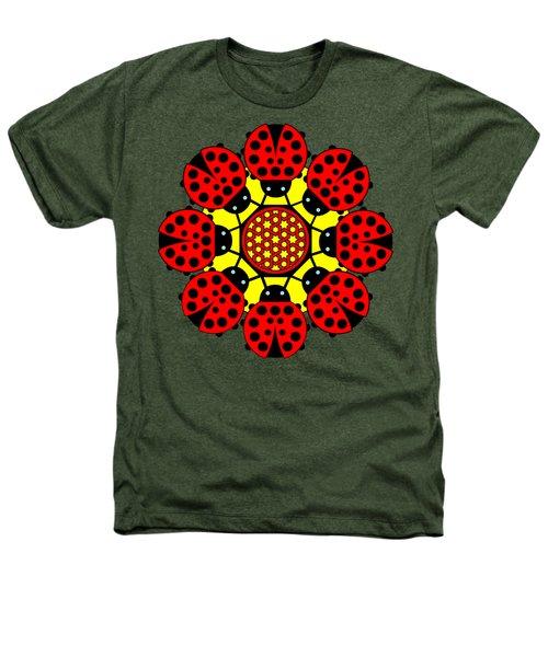Eight Lucky Ladybirds Heathers T-Shirt by John Groves