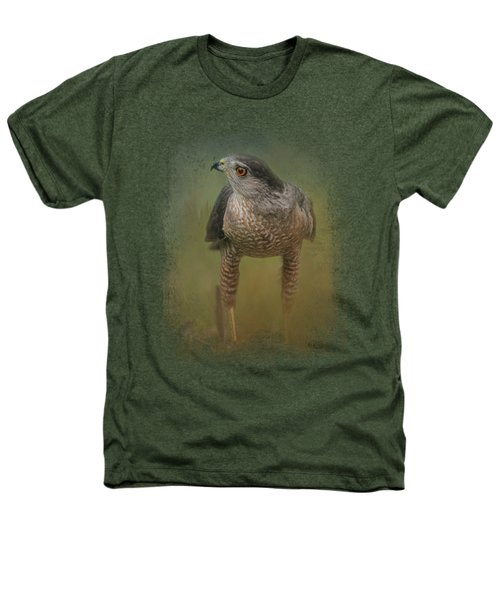 Evening Hawk Heathers T-Shirt by Jai Johnson