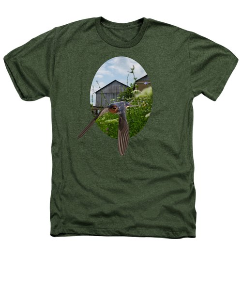 Flying Through The Farm Heathers T-Shirt by Jan M Holden
