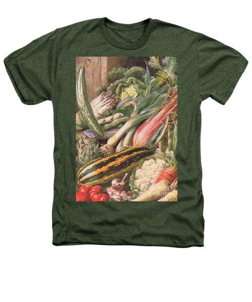 Garden Vegetables Heathers T-Shirt by Louis Fairfax Muckley
