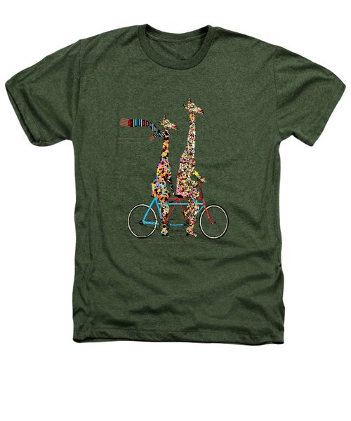 Giraffe Days Lets Tandem Heathers T-Shirt by Bri B