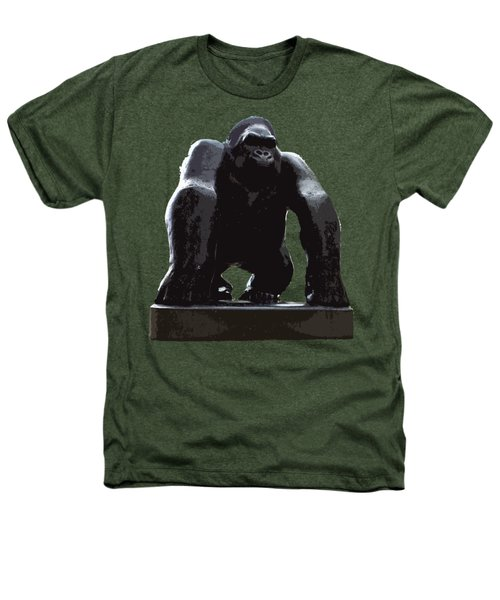 Gorilla Art Heathers T-Shirt by Francesca Mackenney