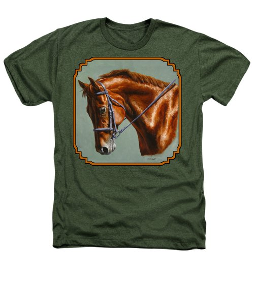 Horse Painting - Focus Heathers T-Shirt by Crista Forest