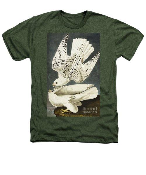 Iceland Or Jer Falcon Heathers T-Shirt by John James Audubon