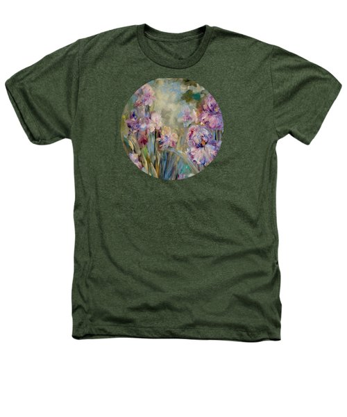 Iris Garden Heathers T-Shirt by Mary Wolf
