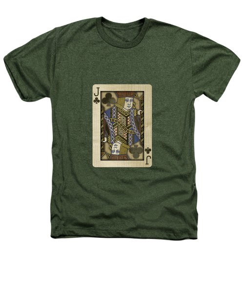 Jack Of Clubs In Wood Heathers T-Shirt by YoPedro