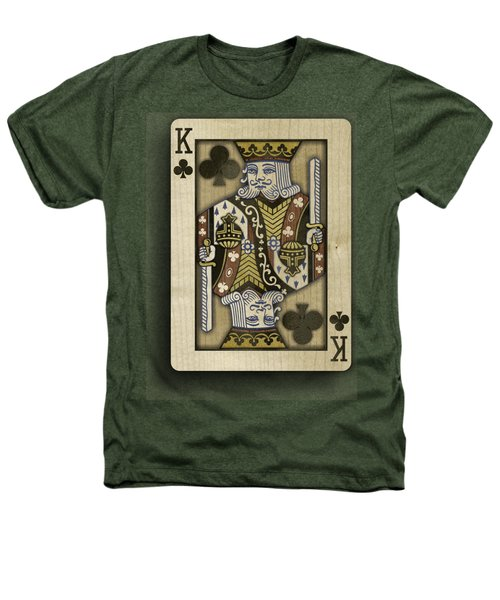 King Of Clubs In Wood Heathers T-Shirt by YoPedro