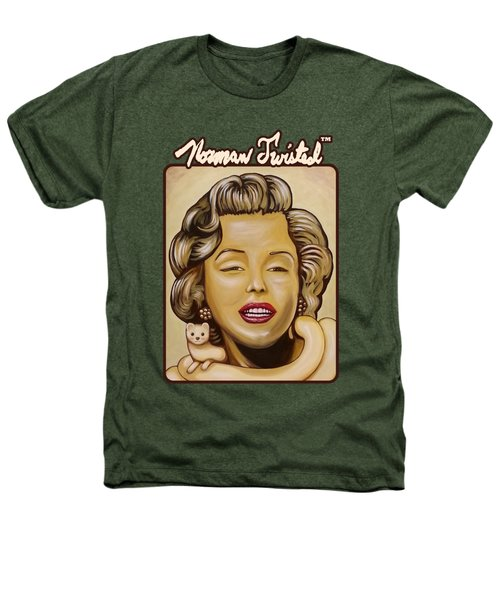 Marilyn In Gold Nt Heathers T-Shirt by Norman Twisted