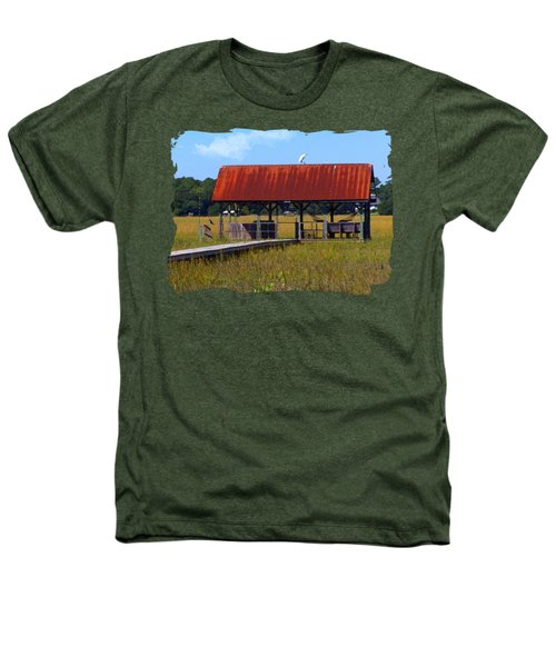 Midday Island Creek View Heathers T-Shirt by Deborah Smith