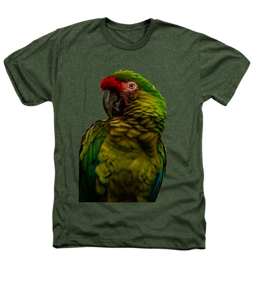 Military Macaw Heathers T-Shirt by Zina Stromberg