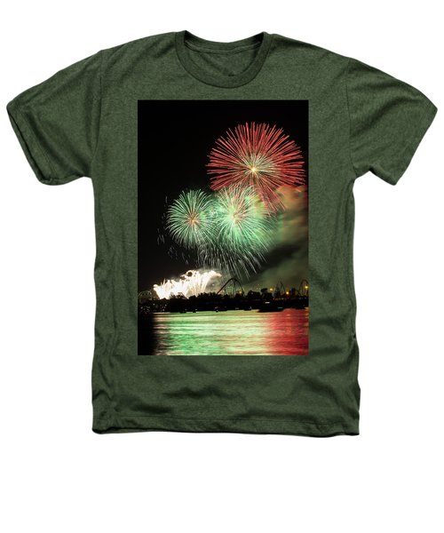 Montreal-fireworks Heathers T-Shirt by Mircea Costina Photography