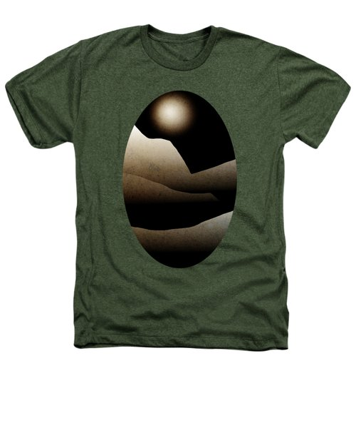 Mountain Moonlight Landscape Art Heathers T-Shirt by Christina Rollo