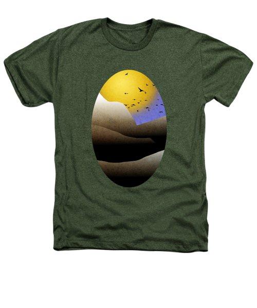 Mountain Sunset Landscape Art Heathers T-Shirt by Christina Rollo