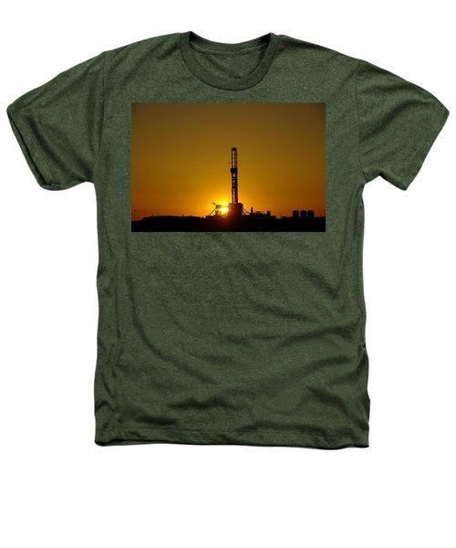 Oil Rig Near Killdeer In The Morn Heathers T-Shirt by Jeff Swan